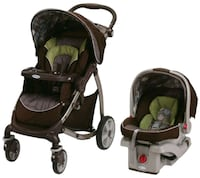 baby's black and green travel system Brooklyn, 11218