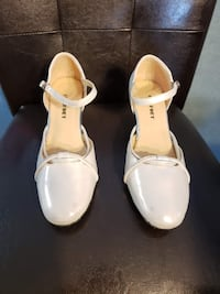 Silver/White High Heel Womens Shoes