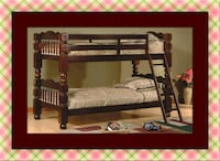Twin wooden bunkbed frame free delivery Falls Church, 22041