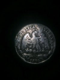 round silver-colored coin Los Angeles, 90065