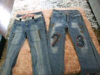 blue denim distressed jeans and black jeans Portsmouth, 23703