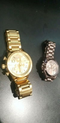 two round gold chronograph watches Moreno Valley, 92553