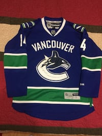 Reebok Vancouver Canucks NHL Hockey Jersey Size Small Burrows 542 km
