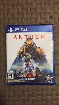"""PS4 """"ANTHEM"""" (good condition) price can be negotiated St Catharines, L2W 1B6"""