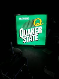 Quaker State lighted sign 4ft x 4ft