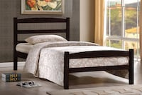 Brand new espresso wooden bed frame warehouse sale  552 km