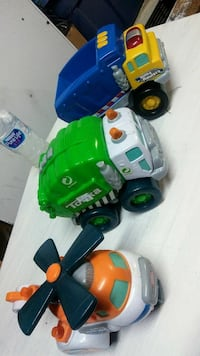 toddler's several assorted plastic toys