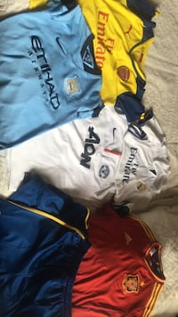 Authentic soccer jerseys - sizes 7-12