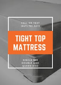 BRAND NEW SMOOTH TOP MATTRESSES ON SALE NOW  Toronto