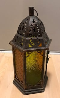 Decorative glass Lantern for candles / tea lights Washington, 20036