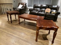 brown wooden coffee table and two side tables Jackson, 08527
