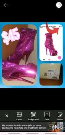 pink sequin stelitto boot