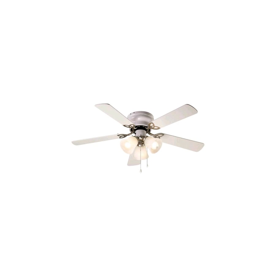 """White Indoor Ceiling Fan  42"""""""