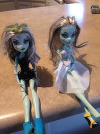 two Monster High dolls
