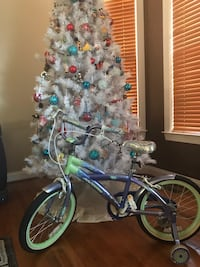 Blue and green bicycle with training wheels Bowie, 20720