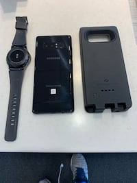 Galaxy Note 8, Galaxy Gear S3 Frontier Watch, Zerolemon 10,000 mAh battery case, Otterbox Defender case  (new, not in picture) Gaithersburg, 20877