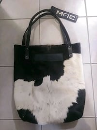 black and white leather tote bag London, N5Y 3E5