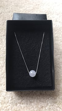 Silver necklace with white stone ball Rockville, 20850