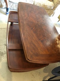 Wood coffee table with height adjustments.  Really love but great! Middletown, 45005
