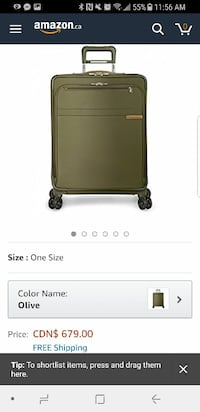Brand new Briggs and riley suitcase for sale Burnaby, V5H 1S5