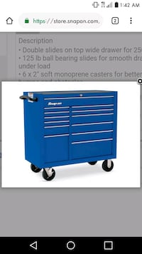 blue and white tool cabinet screenshot Orlando, 32808
