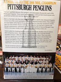 Pittsburgh Penguins Wheaties 1991 NHL Stanley Cup Wheaties Champions Box. Fairfax, 22031