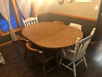 Table and 6 Chairs (partially refinished) $75/OBO Ankeny, 50021