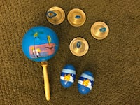 Set of Hand held Percussion Instruments