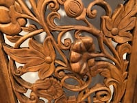 Lightweight wood carving with birds and pumpkins Sterling, 20164