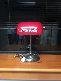 Red and stainless steel coca cola study lamp Wilmington, 19803