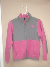 Pink and gray zip-up jacket M 568 km