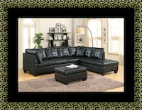 Black sectional with ottoman Woodbridge, 22191