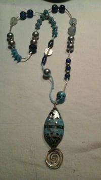 black and blue beaded necklace Phoenix, 85008