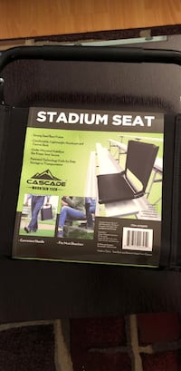 Foldable Stadium Seat Black Glendale, 91202