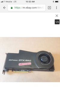 Evga Nvida gtx 580 classified 3gb  Vienna, 22180