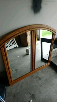 brown wooden framed wall mirror Kitchener, N2E