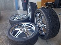 """22"""" rims with rubber"""
