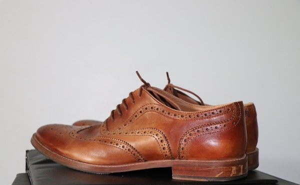 Brown leather shoes (size 11)