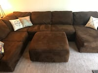 Brown Microfiber Sectional with Ottoman  Allentown, 18101