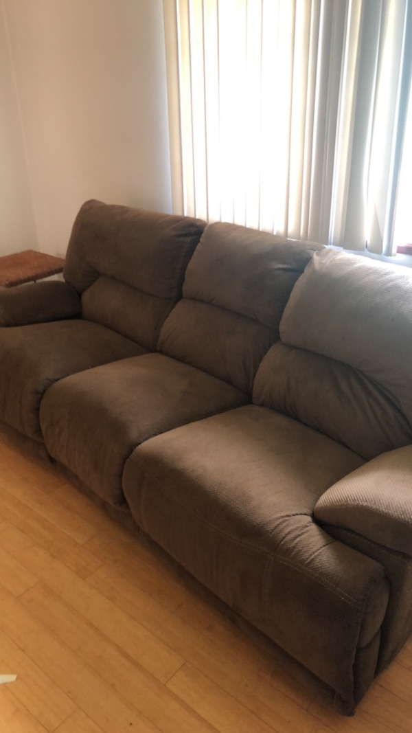 Sensational Used Brown Couch Good Condition For Sale In Kalamazoo Letgo Forskolin Free Trial Chair Design Images Forskolin Free Trialorg