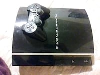 black Sony PS3 game console with controller 2359 mi