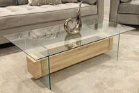 brand new glass and wood modern table 536 km