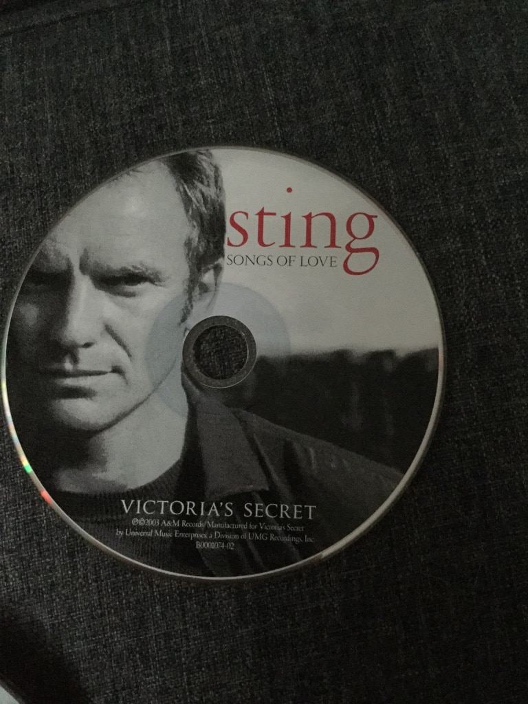 Sting Song of Love disque Victoria's Secret