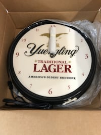 Yuengling Lager Clock - Brand New in Box