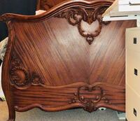 Beautiful French Mahogany FULL headboard as footboard( side railings included) San Antonio, 78255