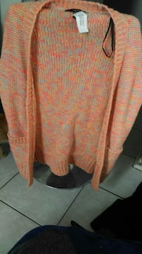 orange and gray long-sleeved cardigan Guelph, N1E 5P9