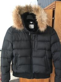 black and white fur-lined bubble jacket Vaughan, L4L 7G4
