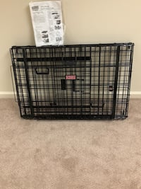black metal folding dog crate Fairport, 14450