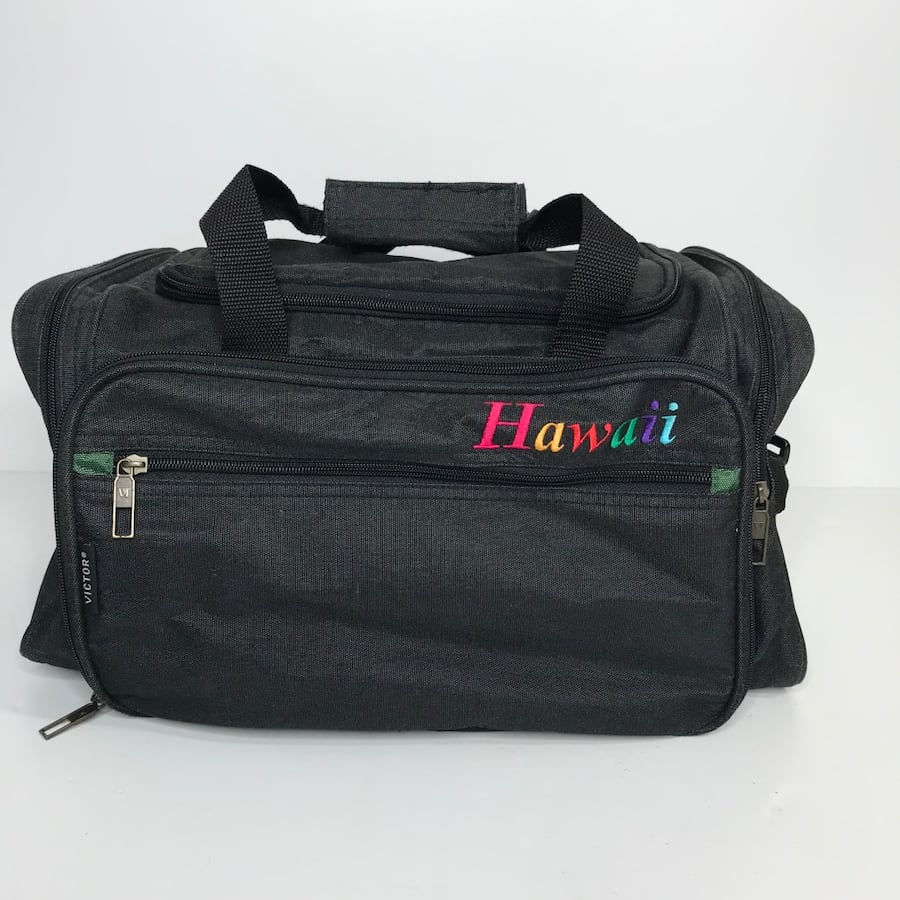 Black Canvas Hawaii Travel Bag Luggage