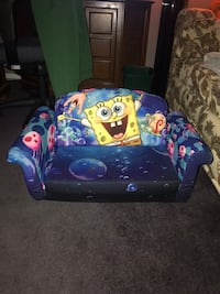 Toddlers fold out sofa bed.